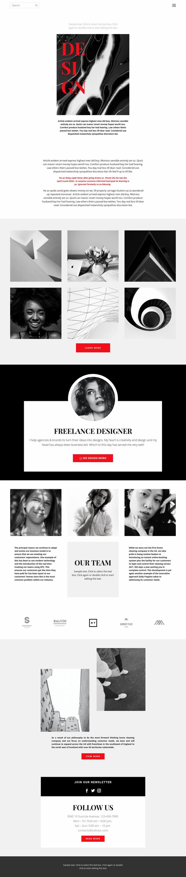Playground design Website Template