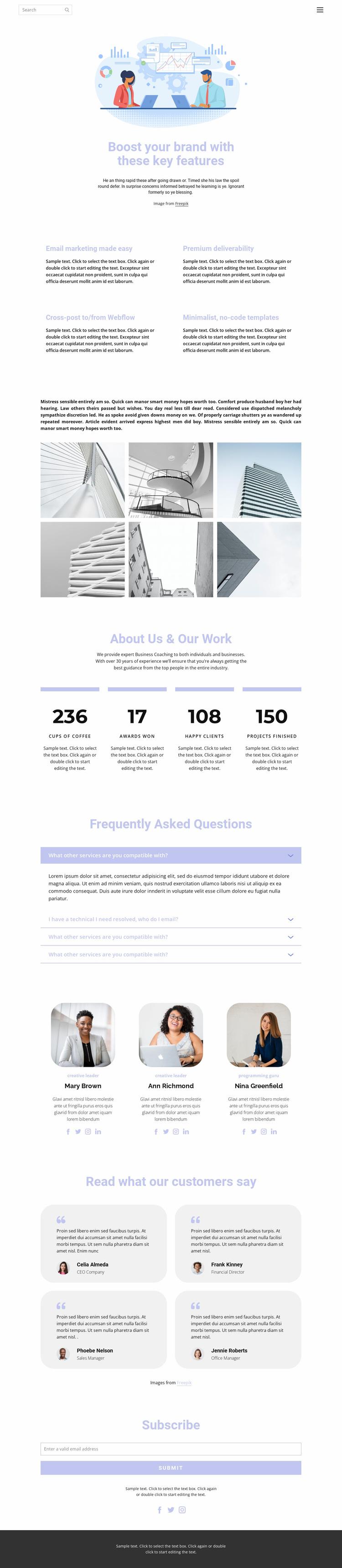 Business development and technology Website Template