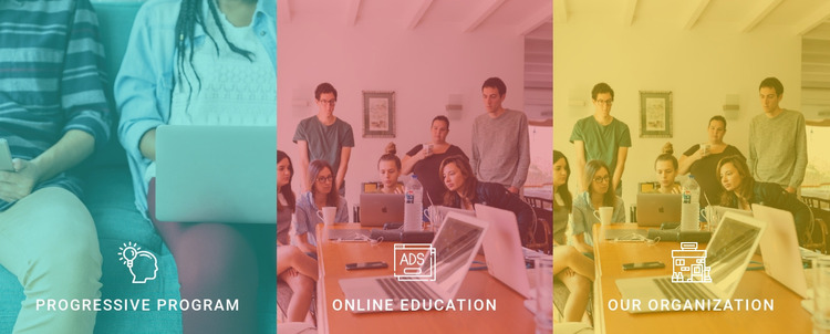 The advantages of our school Website Mockup