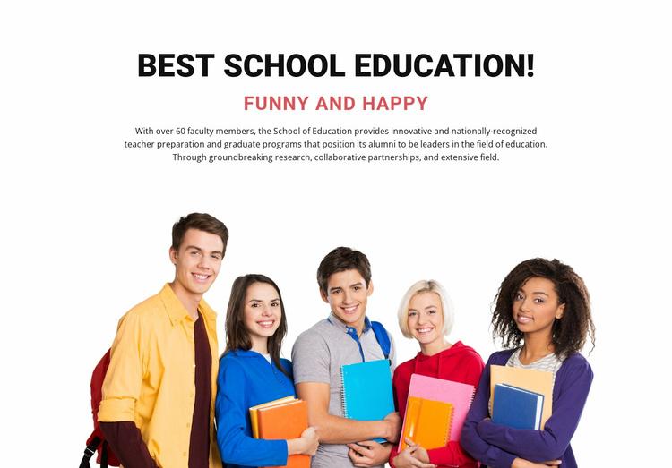 Best school education Website Template