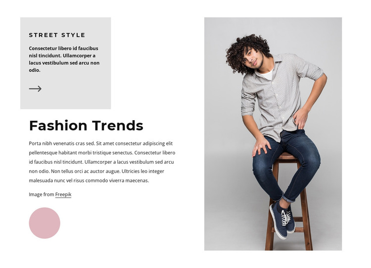 Fashion trends for men HTML Template