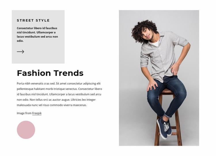Fashion trends for men Website Mockup