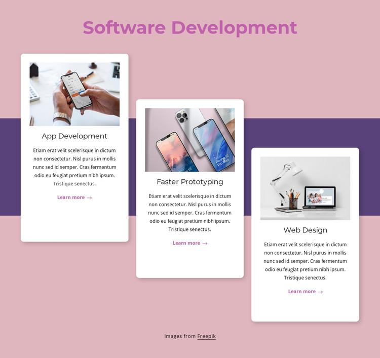 Cloud-native software development HTML Template