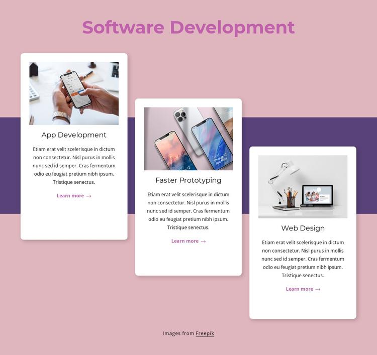Cloud-native software development Website Builder Software