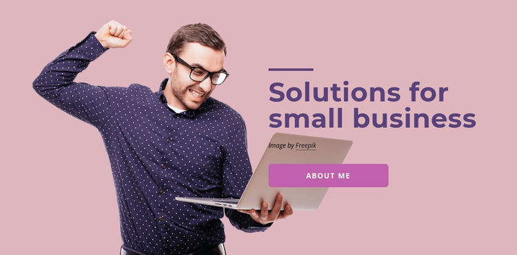 Software solutions for small business Website Mockup