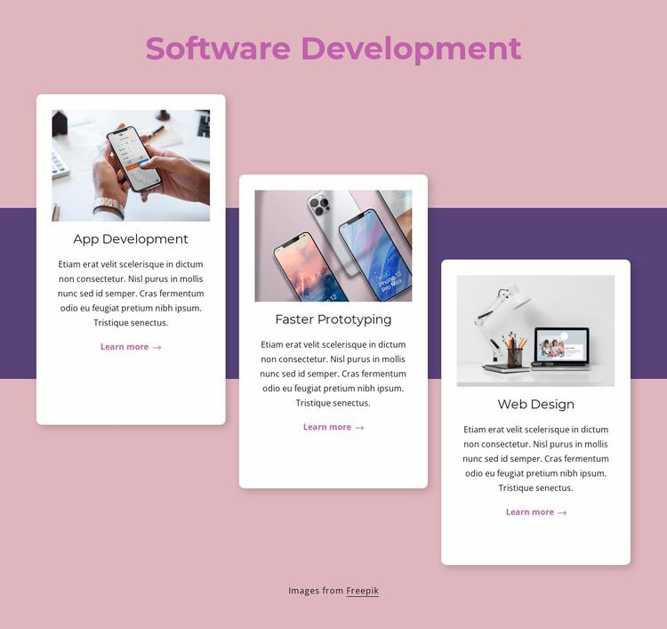 Cloud-native software development Website Template