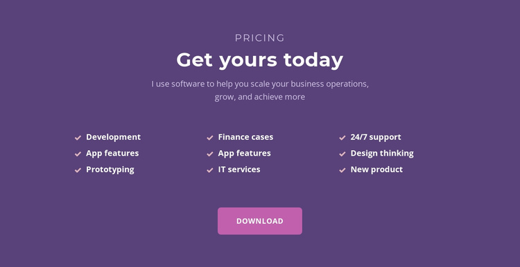 List with headline Website Builder Software