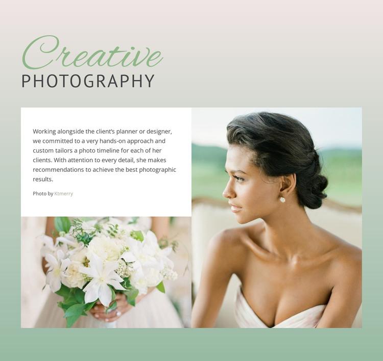 Bride Creative Photography HTML Template