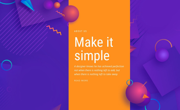 Make it simple HTML Template