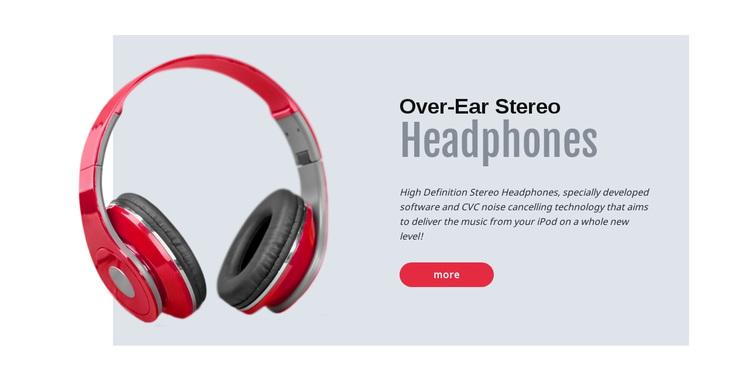Stereo headphones Joomla Page Builder