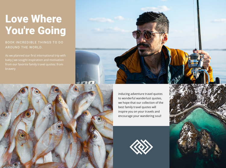 Fishing and hunting  Website Template