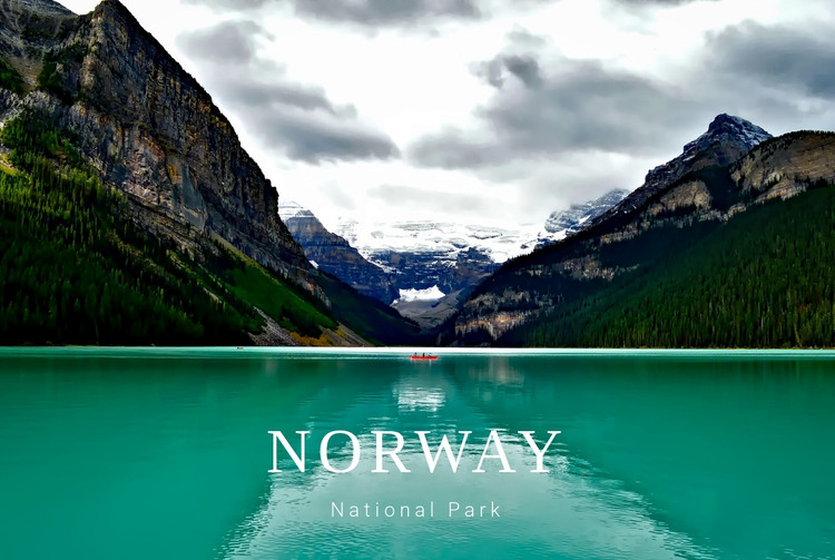 Travel norway tours HTML Template