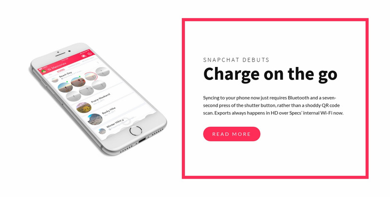 Charge on the go Web Page Designer