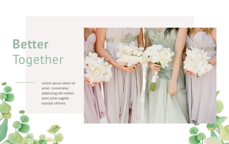 Dresses with gorgeous details HTML Template