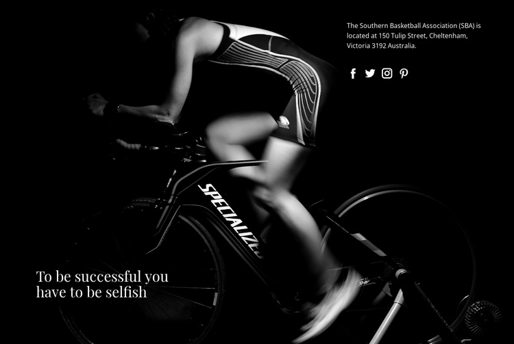 Society for cyclists Website Template