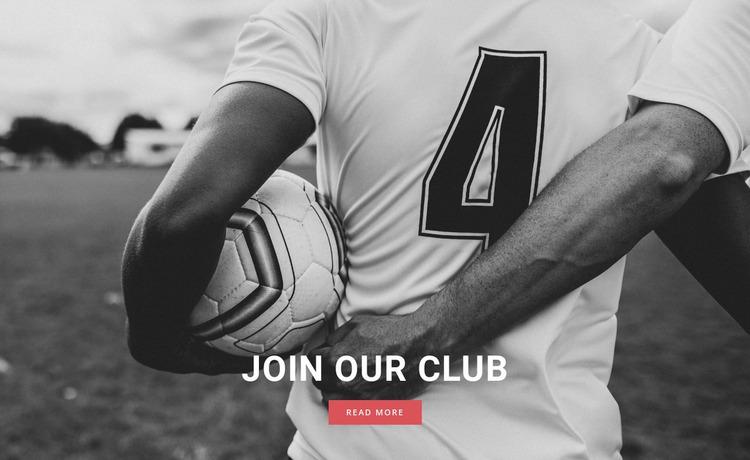 Sport football club Website Mockup