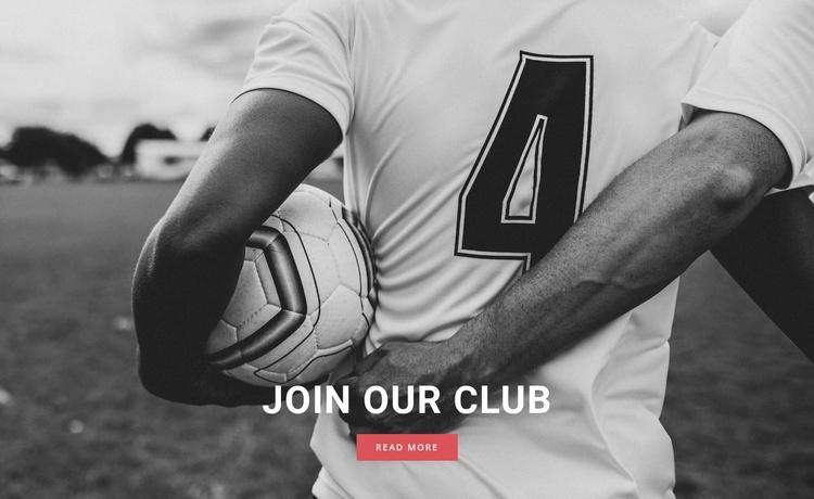 Sport football club Website Template