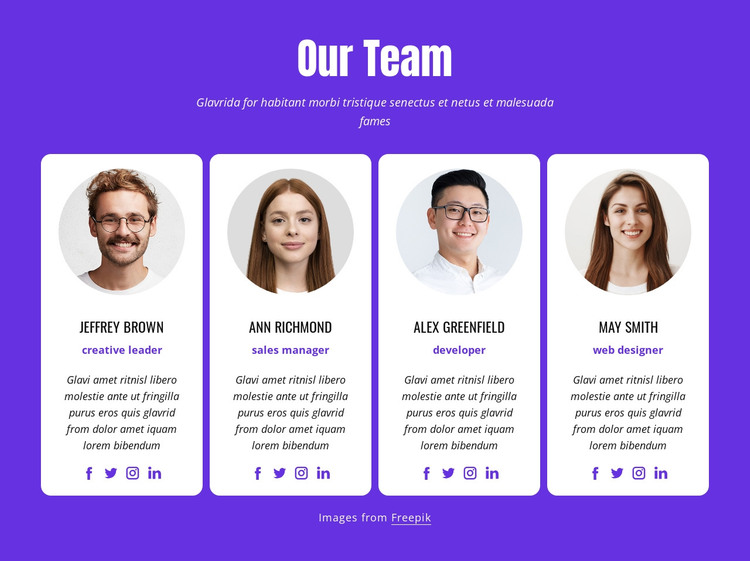 Web designers and web developers HTML Template