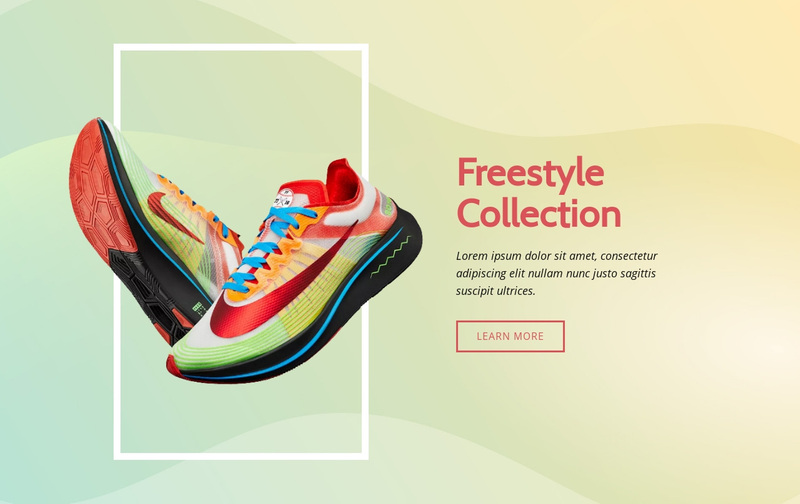Freestyle collection Web Page Design
