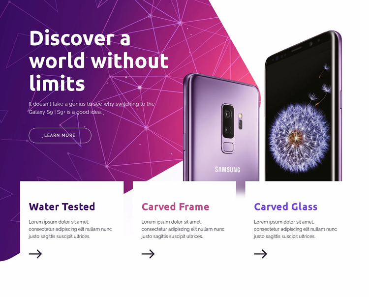 Discover the world  without limits Website Design