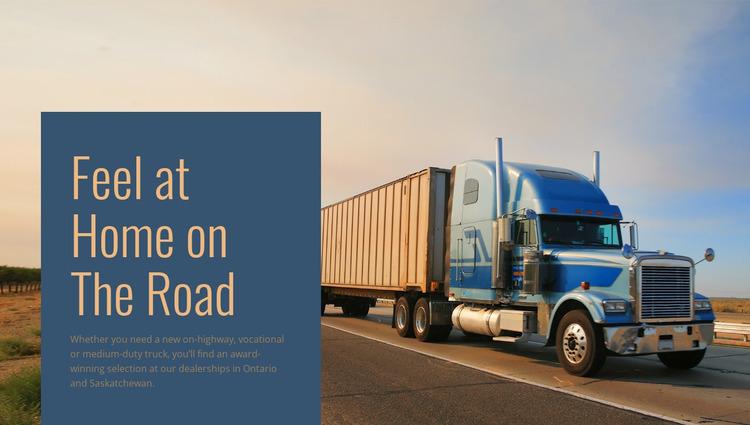Vehicle logistics operator Website Mockup