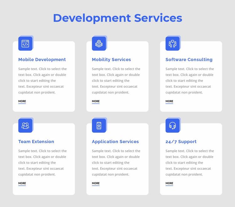 Web app development Website Template