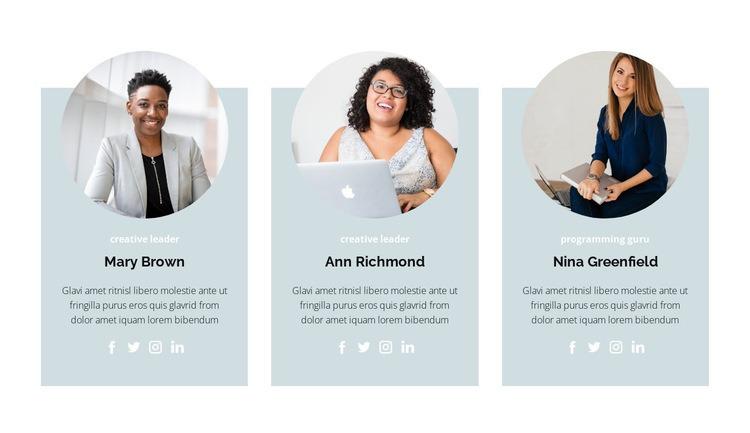 Three members Web Page Designer