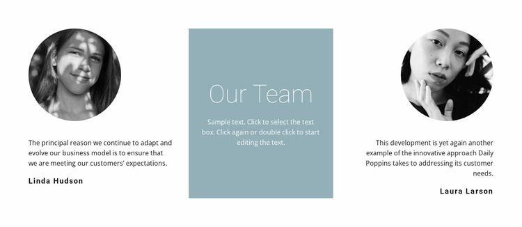 Girls from our team Website Template
