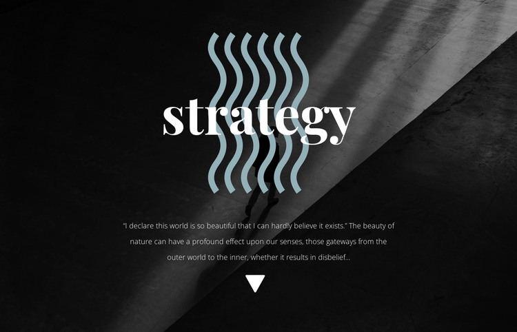 Strategy HTML Template