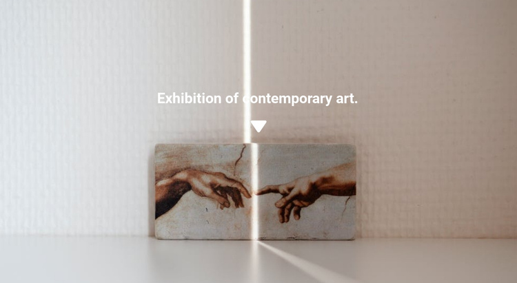 Exhibition of paintings One Page Template