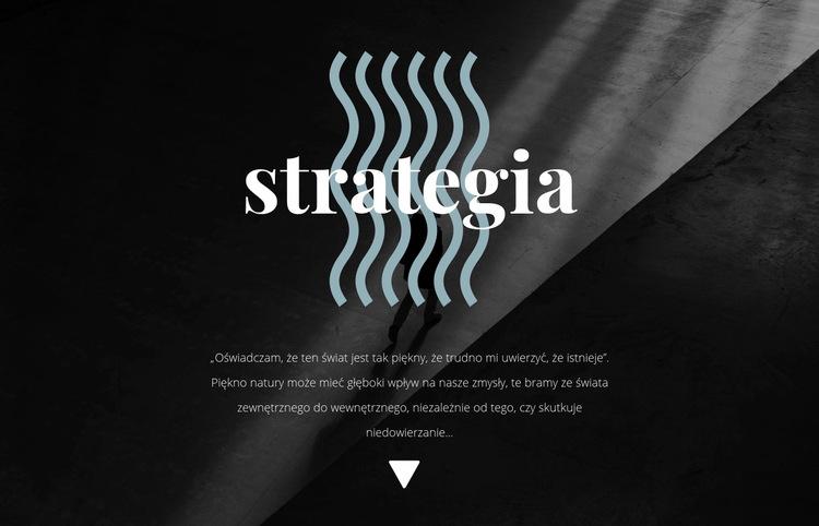 Strategia Szablon witryny sieci Web