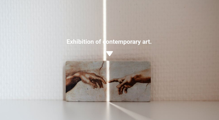 Exhibition of paintings Website Design