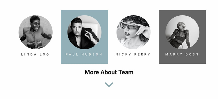 Four people from the team Website Template