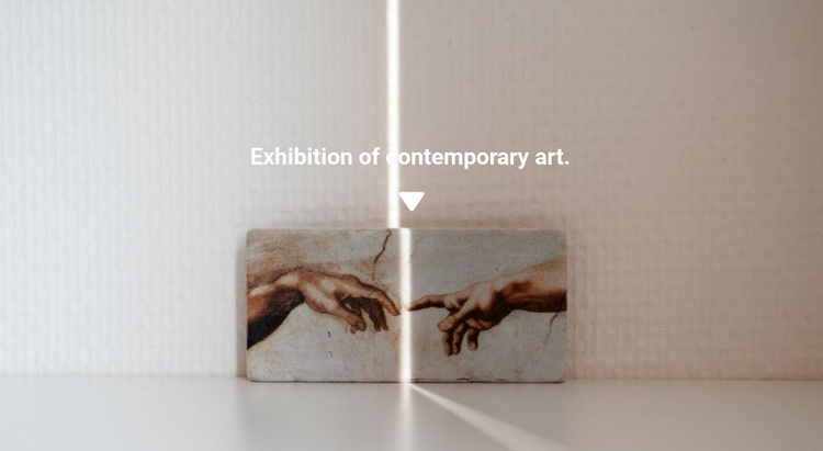 Exhibition of paintings Website Template