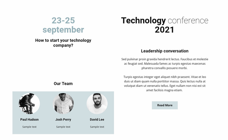 Technology conference 2021 Website Template