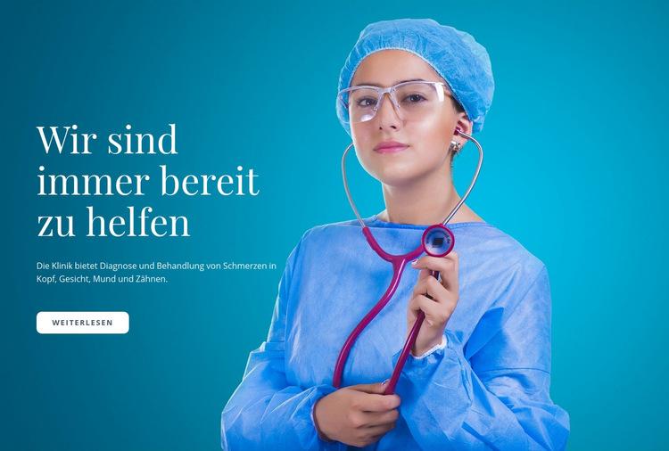 Express medizinische Versorgung Website-Vorlage
