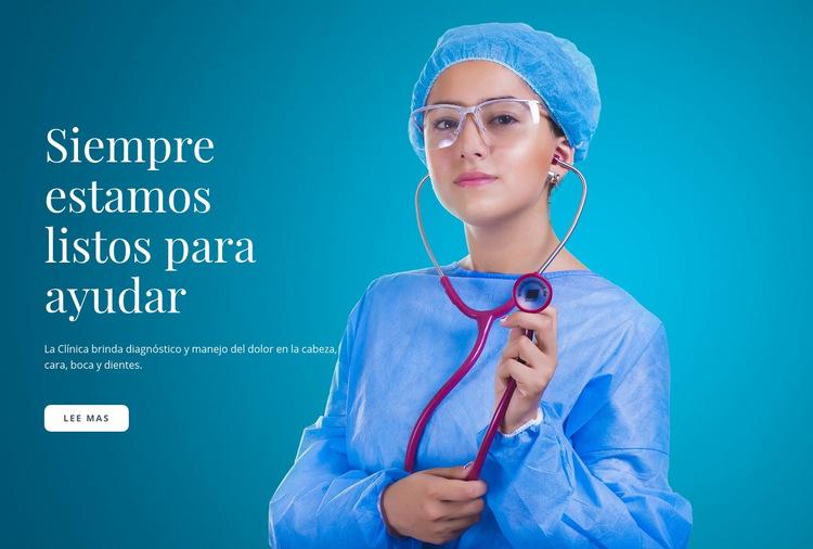 Atención médica urgente Plantilla de sitio web