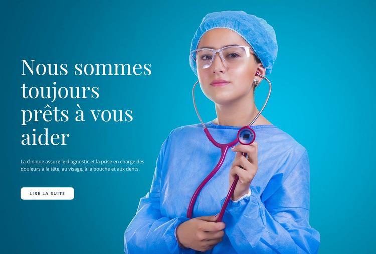 Soins médicaux express Modèle de site Web