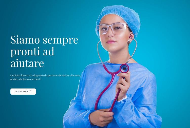 Express Medical Care Modello di sito Web