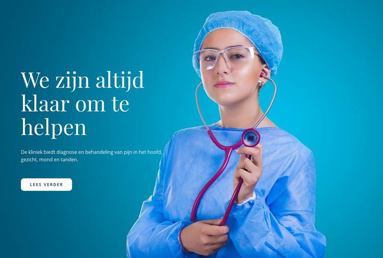 Express medische zorg Website sjabloon
