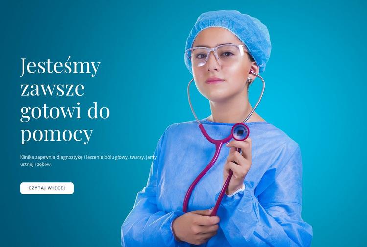 Ekspresowa opieka medyczna Szablon witryny sieci Web