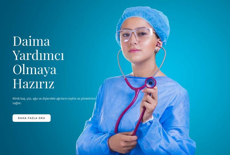 Hızlı Tıbbi Bakım Web Sitesi Şablonu