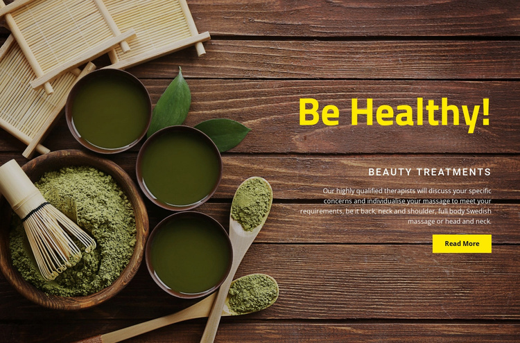 Health treatments Website Template