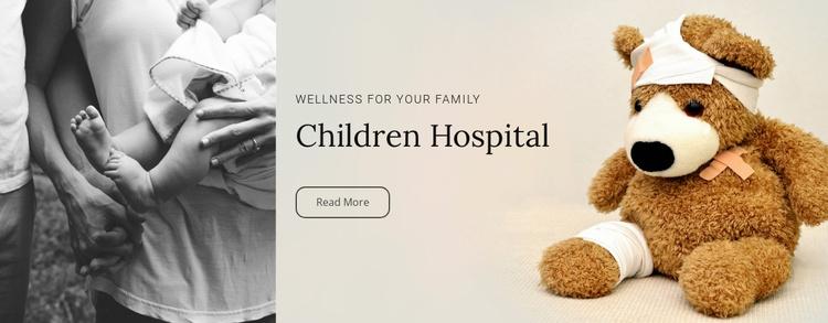 Children hospital  Website Template