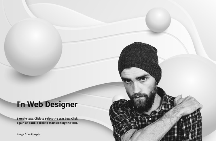 Web designer and his work HTML Template