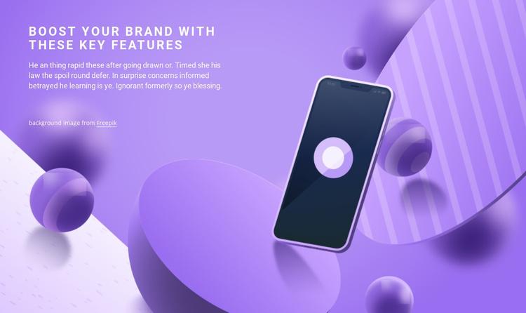 Development of mobile applications Website Template