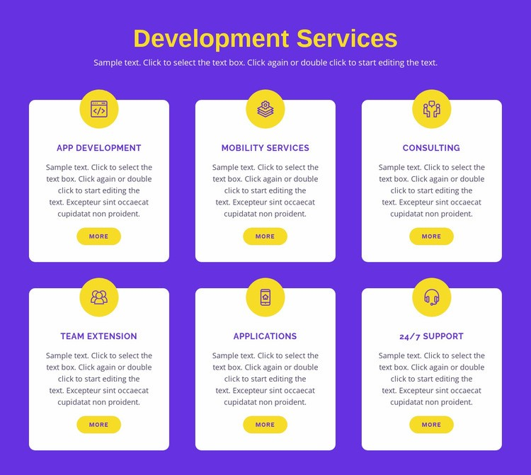 Custom application development Html Code Example