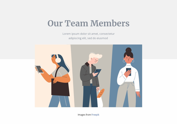 Our team members Website Template