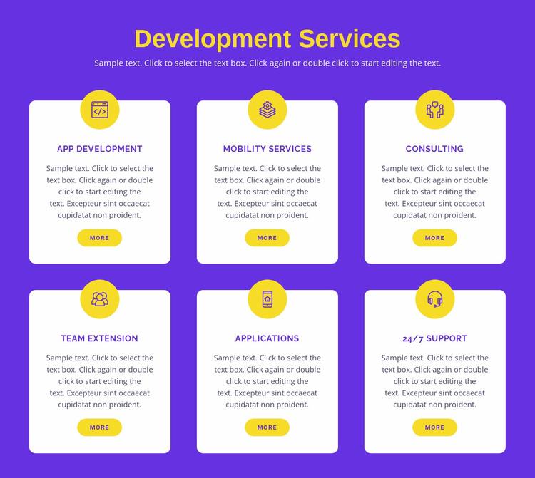 Custom application development Website Template