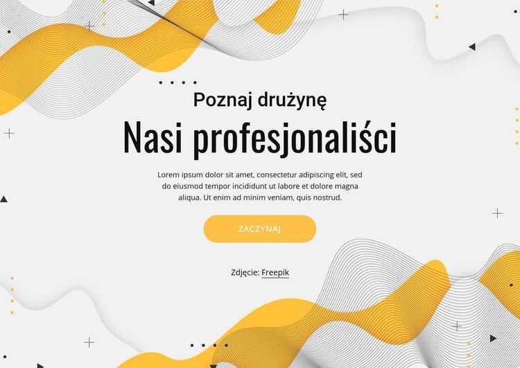Poznaj nasz profesjonalny zespół Szablon witryny sieci Web
